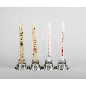 Bedrukte kaarsen 240/21 mm met een tekst, logo of foto