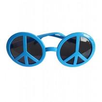 Peace Hippie bril blauw
