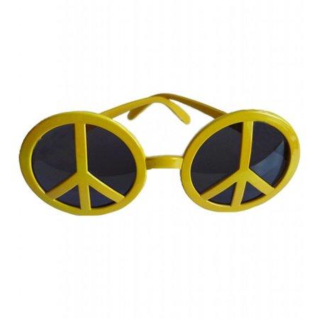 Peace Hippie bril geel