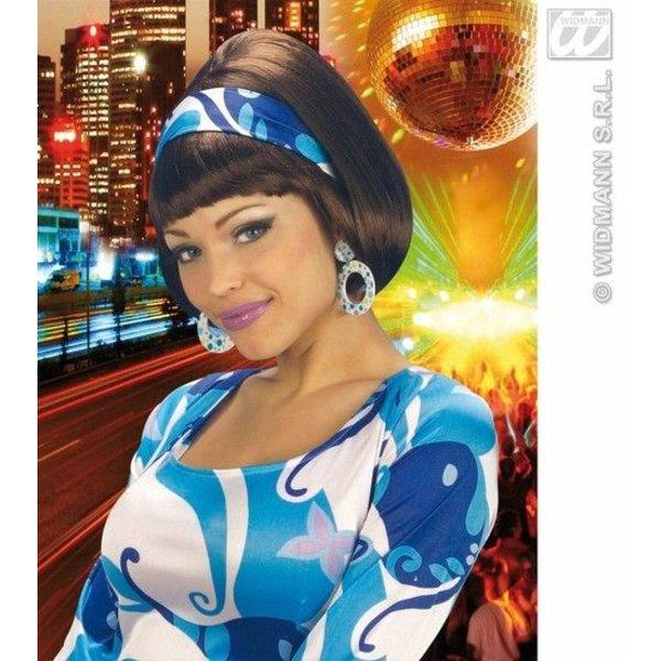 Pruik party girl 70's met hoofdband
