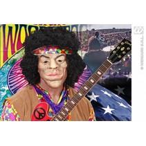 Masker Woodstock Hippie met haar deluxe