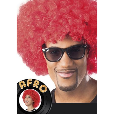 Pruik Afro rood Bakari