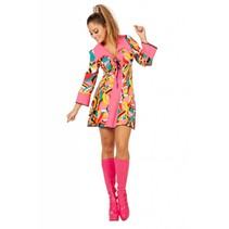 Disco popart jurk vrouw