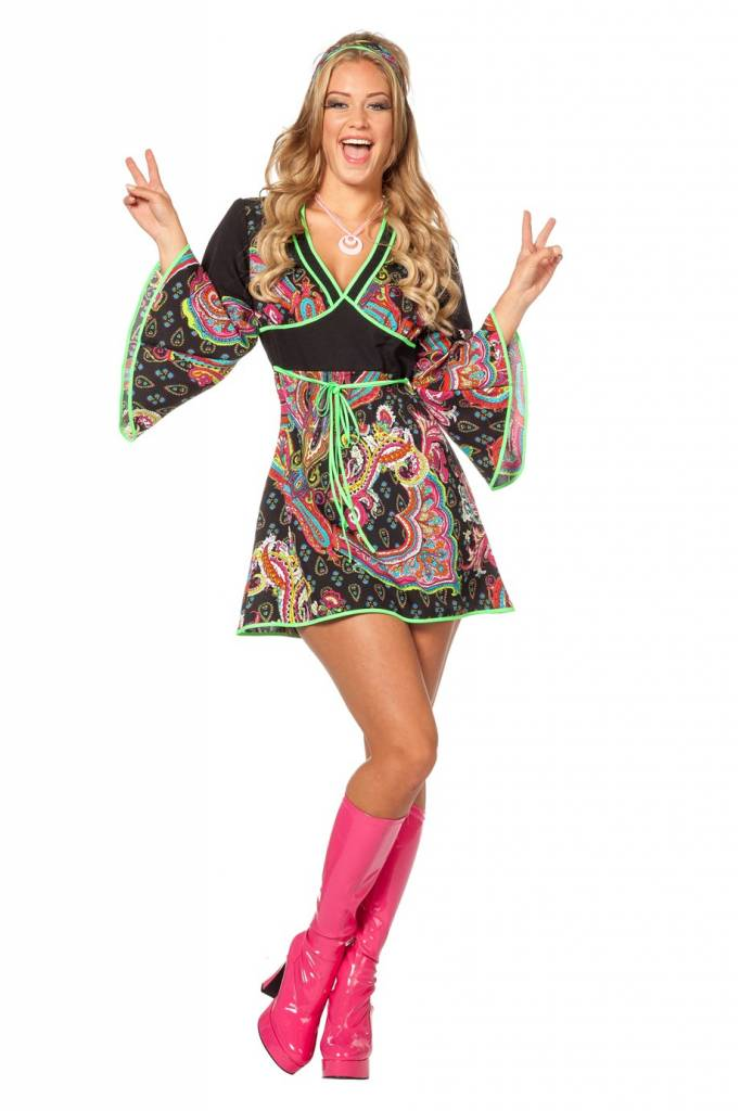 Hippie jurkje + hoofdband | Hippiekleding.nl