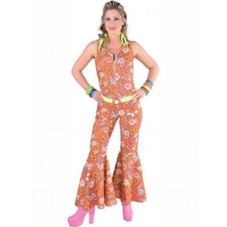 70's Jumpsuit Hippie oranje