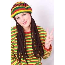 Bob Marley pet met rasta haar