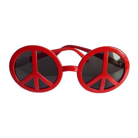 Funbril Peace rood