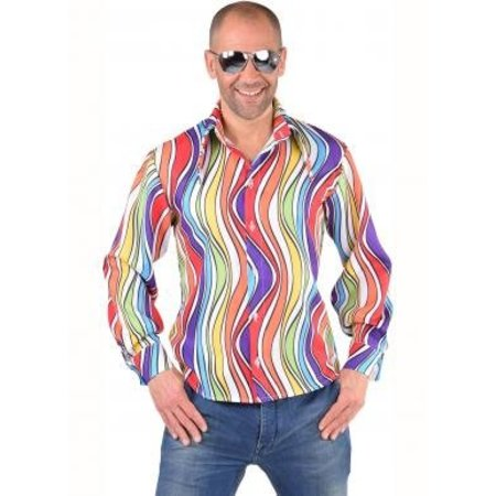 Hippie blouse rainbow waves