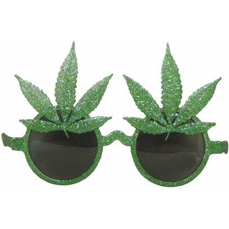 Feestbril Hippie wietbladeren