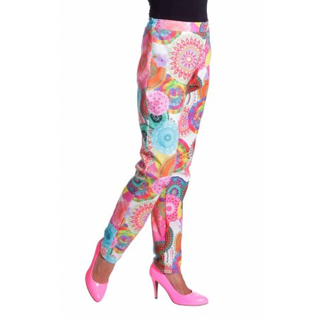 Hippy flower power broek dames