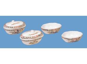 HuaMei Collection Schalen- en dekschalen set, 6-delig