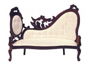 Euromini's Sofa, mahonie