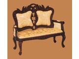Euromini's Victoriaanse sofa, mahonie