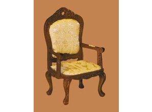 Euromini's Vict. stoel met armleuningen, noten