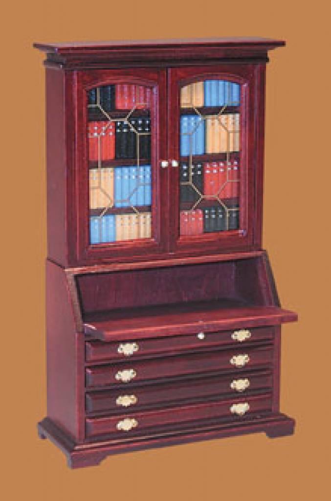 eurominis bureau boekenkast mahonie