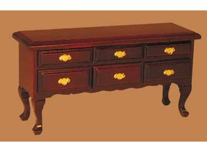 Euromini's Queen Anne commode, mahonie