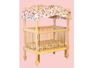 Euromini's Kinderhemelbed, blankhout