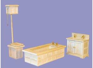 Euromini's Victoriaanse badkamer 3-delig