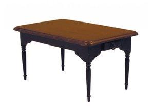 Deluxe Collection Eetkamertafel, noten/ zwart