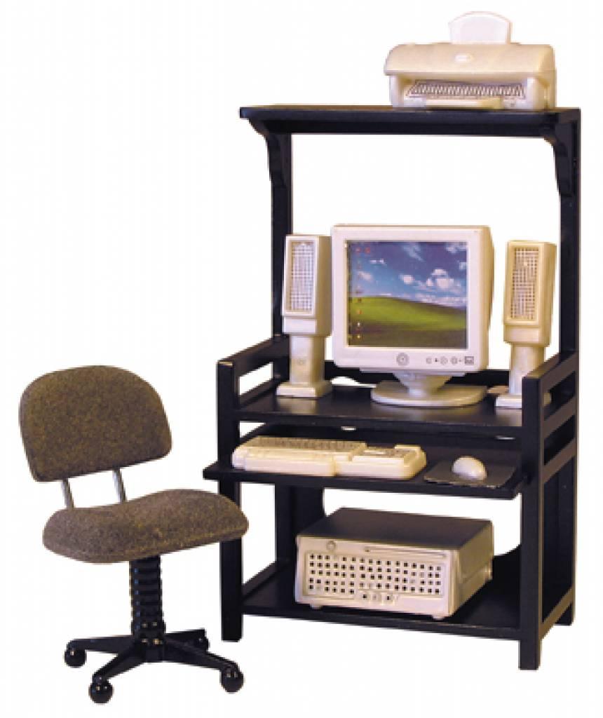 Bureau En Bureaustoel.Bureau Met Bureaustoel Printer En Computerset Euromini S