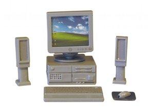 Euromini's Computerset, 6-delig, zilvergrijs