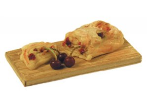 Euromini's Kersenbrood op plank