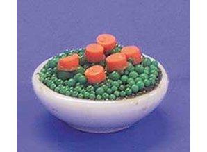 Euromini's Porseleinen schaal met groenten
