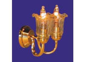 Euromini's Wandlamp, 2-pits glashelder