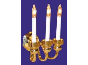 Euromini's Wandlamp, 3-pits kaars