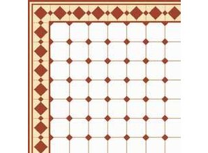 Euromini's Old Tiles, Brown & White