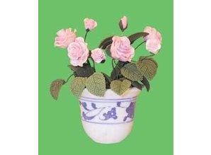 Euromini's Pot met rozen.