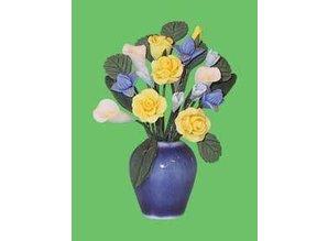 Euromini's Porseleinen vaas met bloemen