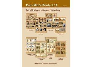 Euromini's Set van 8 knipvellen
