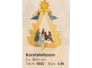 Bouwtekening kerststalboom