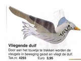 Bouwtekening vliegende duif