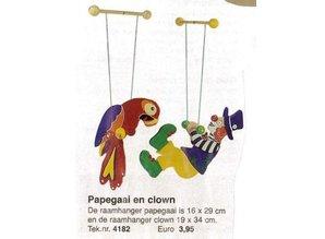 Bouwtekening papegaai en clown