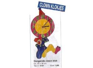 Bouwtekening hangende clown klok