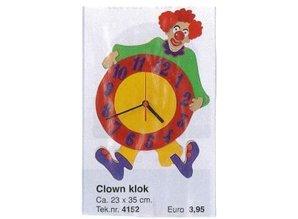 Bouwtekening clown klok