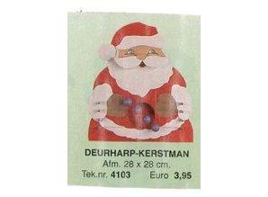 Bouwtekening deurharp kerstman