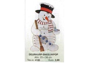 Bouwtekening deurharp sneeuwman