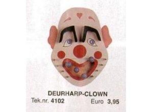 Bouwtekening deurharp clown