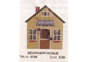 Bouwtekening deurharp huisje