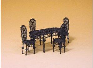Euromini's EM3372 Tafel met 4 stoelen
