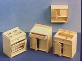 Euromini's Woodcraft Poppenhuismeubels Keuken