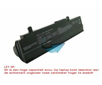 ASUS EEE PC 1015/1215 Accu 10.8V 7800mAh (Extended zwart)