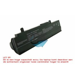 ASUS EEE PC 1015/1215 Accu 10.8V 7800mAh (Extended zwart)