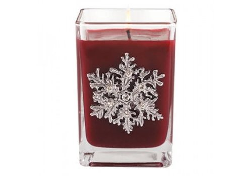 Cranberry Frost Cube Candle, medium