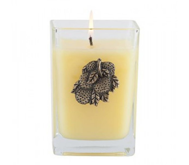 Orange & Evergreen Cube Candle, Medium