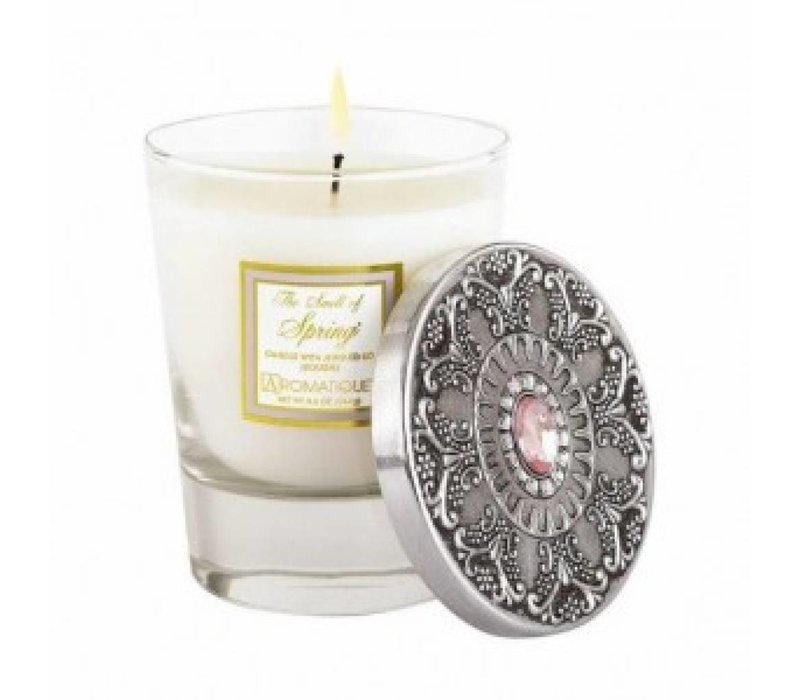 The Smell of Spring® Candle with Jeweled Lid