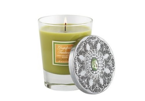 Grapefruit Fandango Candle with Jeweled Lid